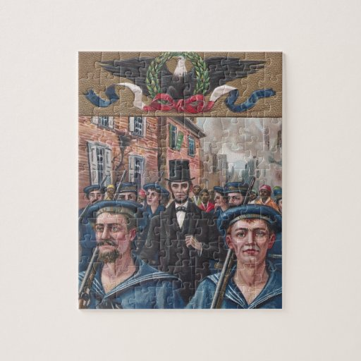 Lincoln Visiting Richmond VA in 1865 Jigsaw Puzzle