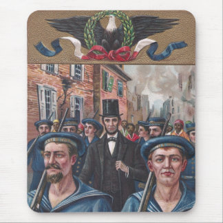 Lincoln Visiting Richmond VA in 1865 Mouse Pad