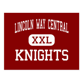 Lincoln Way central - knights - New Lenox Postcard
