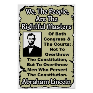 Lincoln: We The People! Posters