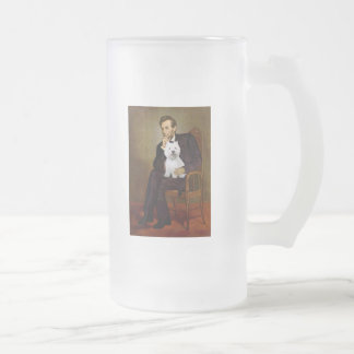 Lincoln - Westie 2 Frosted Glass Beer Mug