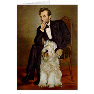 Lincoln - Wheaten Terrier 7 Greeting Card