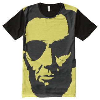 Lincoln with Aviator Sunglasses (Black) All-Over-Print Shirt