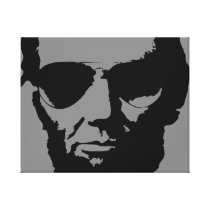 Lincoln with Aviator Sunglasses (Black) Canvas Print