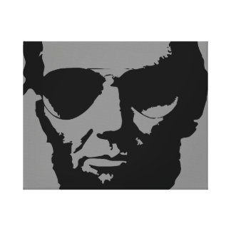 Lincoln with Aviator Sunglasses (Black) Canvas Print