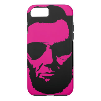 Lincoln with Aviator Sunglasses - Black iPhone 7 Case