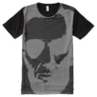 Lincoln with Aviator Sunglasses - Gray All-Over-Print Shirt
