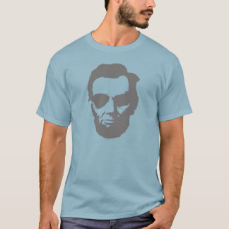 Lincoln with Aviator Sunglasses - Gray T-Shirt
