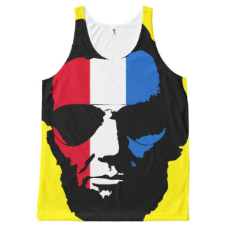 Lincoln with Aviator Sunglasses - Red White Blue All-Over-Print Tank Top