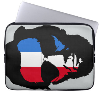 Lincoln with Aviator Sunglasses - Red White Blue Computer Sleeve