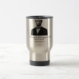 Lincoln y cita taza de viaje de acero inoxidable