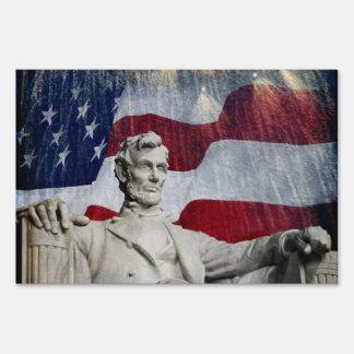 Lincoln y fuegos artificiales cartel