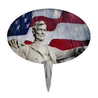 Lincoln y fuegos artificiales figura de tarta