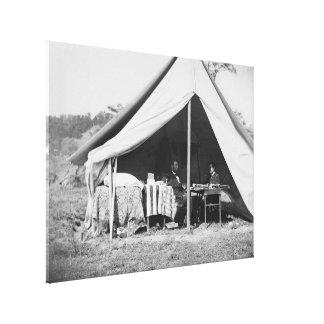 Lincoln y GEN McClellan en el campo de batalla Ant Lona Envuelta Para Galerias