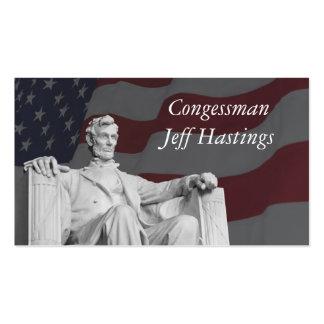Lincoln y la bandera tarjetas de visita