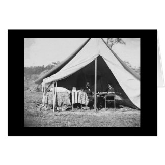 Lincoln y McClellan en Antietam 1862 Tarjeta De Felicitación