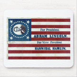 Lincoln y muestra de la campaña de Hamlin Alfombrilla De Raton