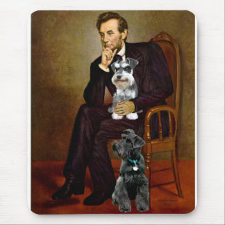 Lincolnd's Two Schnauzers Mouse Pad