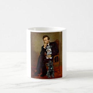 Lincolnd's Two Schnauzers Classic White Coffee Mug