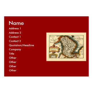 Lincolneshire County Map, England Large Business Cards (Pack Of 100)
