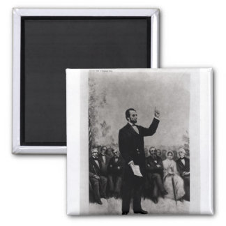 Lincoln's Address at Gettysburg, 1895 2 Inch Square Magnet