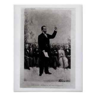 Lincoln's Address at Gettysburg, 1895 Poster