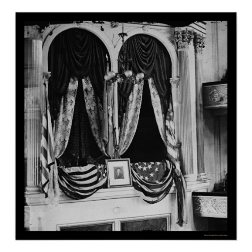 Lincoln's Box at the Ford Theater 1865 Print
