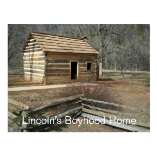 Lincoln's Boyhood Home, Knob Creek, KY Postcard
