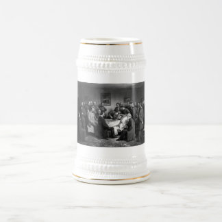 Lincoln's Deathbed Beer Stein