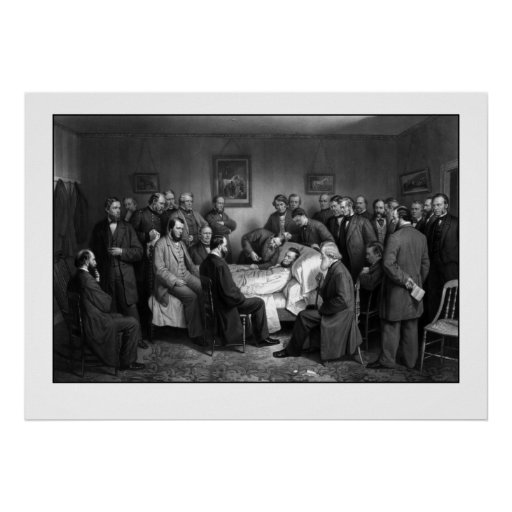 Lincoln's Deathbed Print