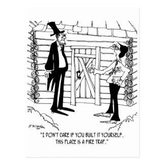 Lincoln's Fire Trap Postcard