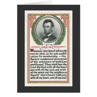 Lincoln's Idea of Christianity Card