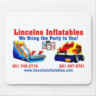 Lincolns inflatables Business Card 2.jpg Mouse Pad