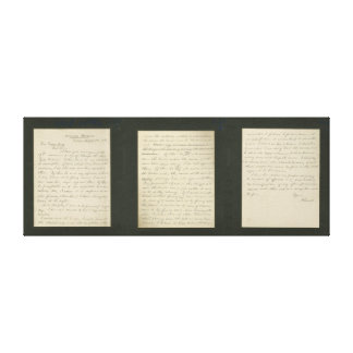 Lincoln's Letter to Greeley- Canvas Print