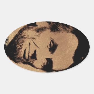 Lincoln's Mug Oval Sticker