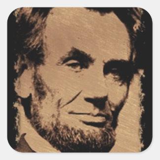 Lincoln's Mug Square Sticker