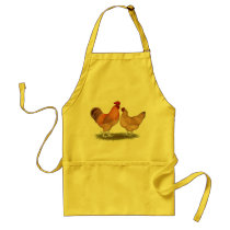 Lincolnshire Buff Chickens Adult Apron