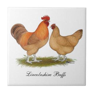 Lincolnshire Buff Chickens Ceramic Tile