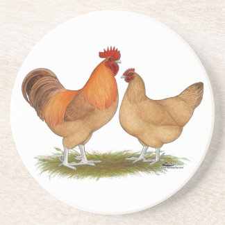 Lincolnshire Buff Chickens Drink Coaster