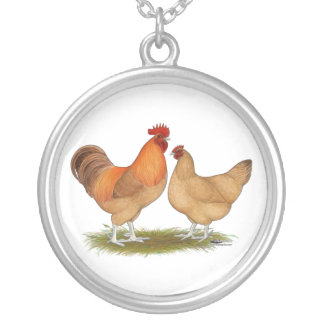 Lincolnshire Buff Chickens Silver Plated Necklace
