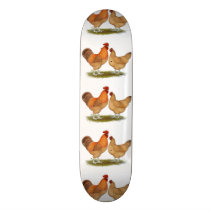 Lincolnshire Buff Chickens Skateboard Deck