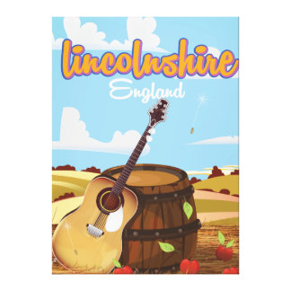 Lincolnshire England vintage travel poster Canvas Print