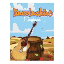 Lincolnshire England vintage travel poster Postcard