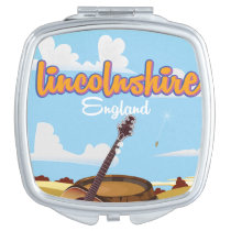 Lincolnshire England vintage travel poster Vanity Mirror