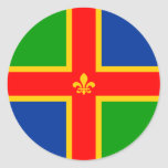 Lincolnshire, United Kingdom Round Sticker