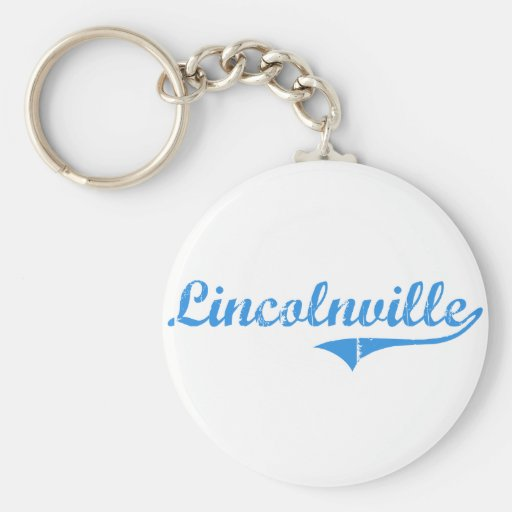 Lincolnville Maine Classic Design Basic Round Button Keychain