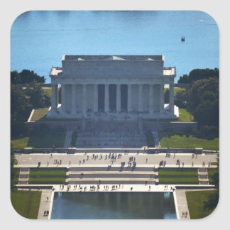 Lincon Monument from Washington Monument jpg Stickers