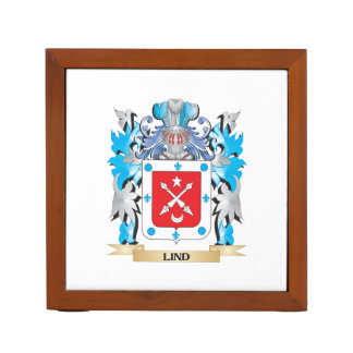 Lind Coat of Arms - Family Crest Desk Organizers
