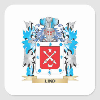 Lind Coat of Arms - Family Crest Stickers
