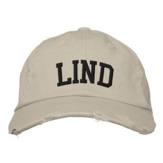 Lind Embroidered Hat Embroidered Baseball Caps